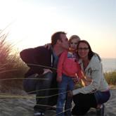 Familienausflug am Strand